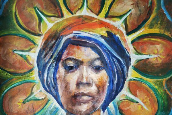 A self portrait by artist Sunshine Negyesi