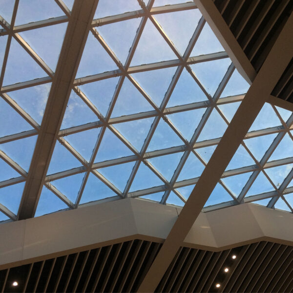 Rome airport roof