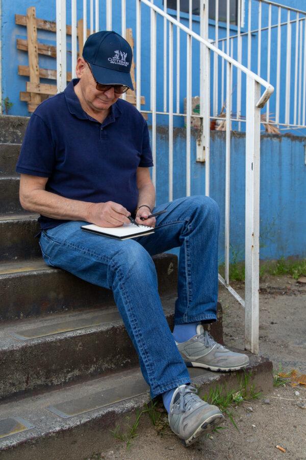 Putney Artist Jeremy Farmer at Delta House Studios, Wimbledon