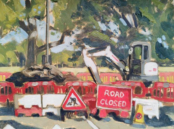 Tooting Common Roadworks