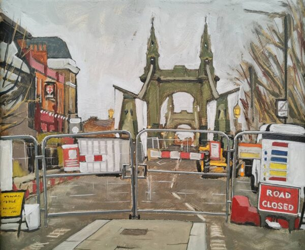 Hammersmith Bridge Roadworks