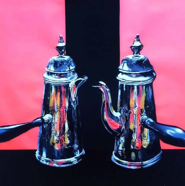 Silver Coffee and Tea Pot