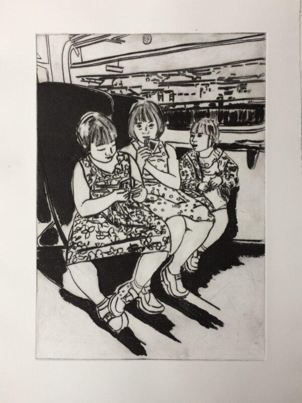 Three Girls on a Train