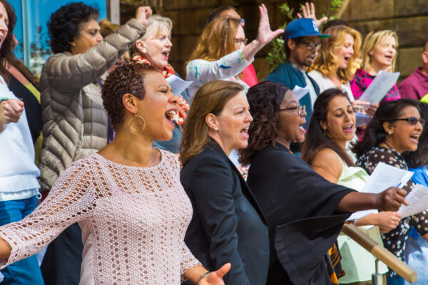 Battersea Power Station Community Choir in performance
