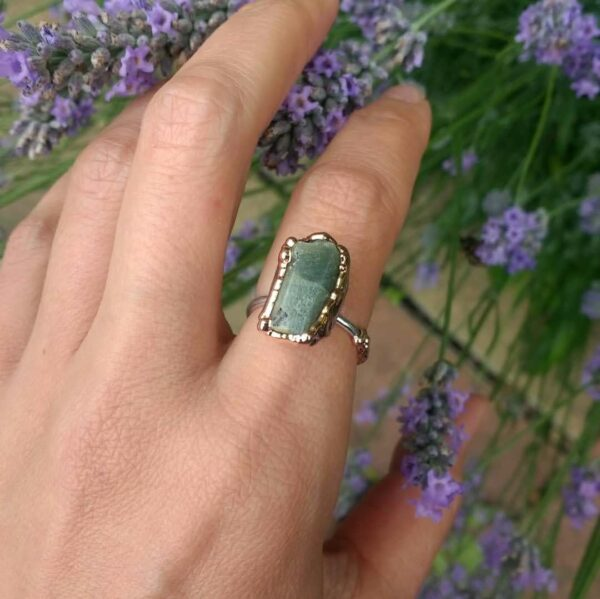 Sapphire on Sterling Silver Band Ring | Autumn September Birthstone Ring