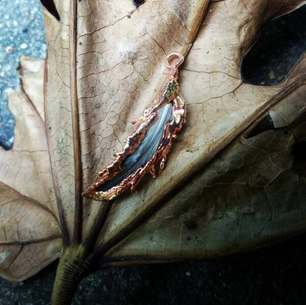 Real Bird Feather Pendant on Sterling Silver Chain