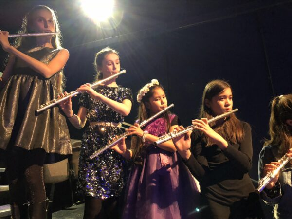 Flute players in the 51st State Band