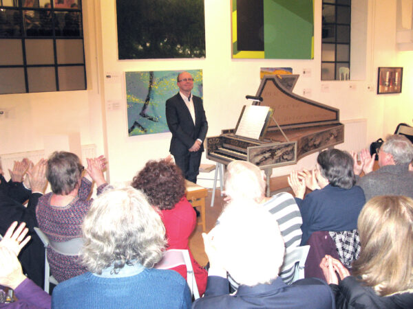 From a recital at The Cello Factory, London (accompanying The London Group exhibition)