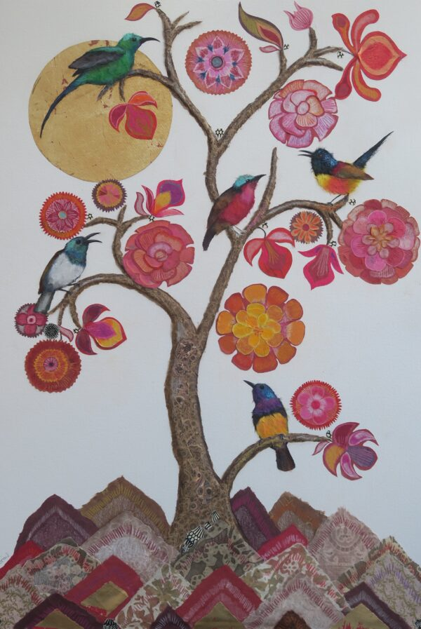 Tree of Life with Five Sunbirds