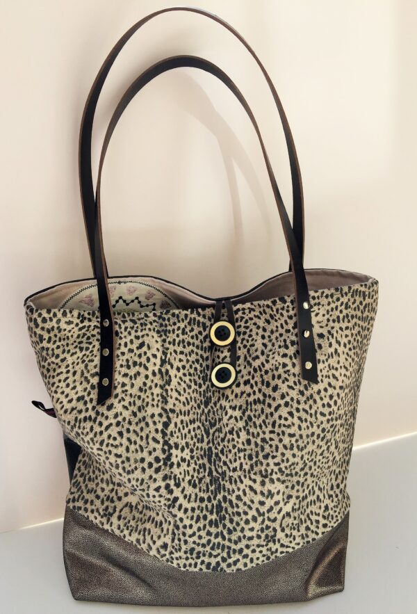 Funky leather leopard print