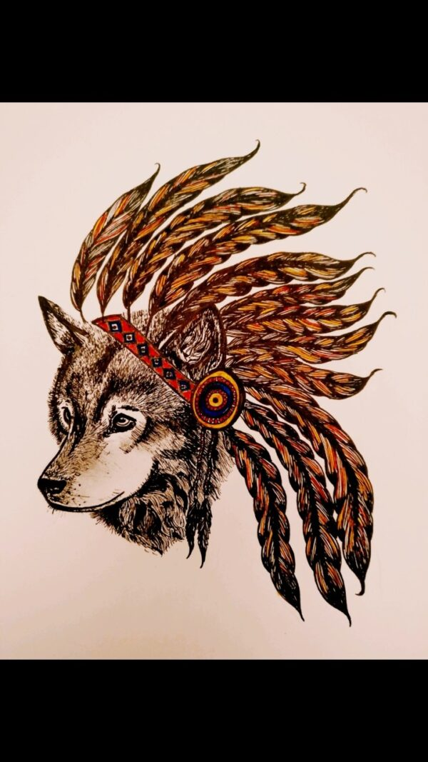 Red Indian Wolf