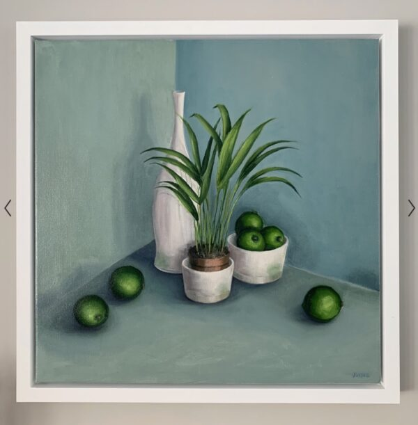 Pots with Limes and Plant