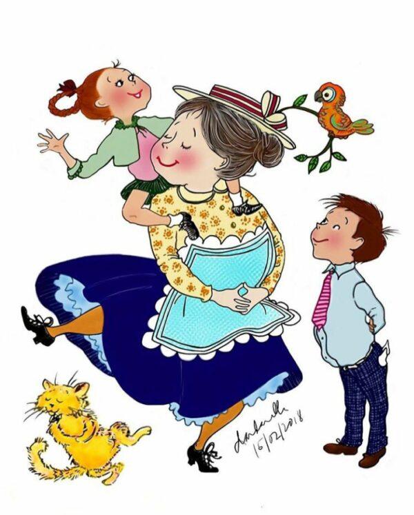 Mrs Piggle Wiggle (coloured)