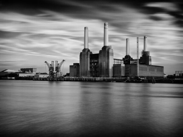 Battersea Power Station, Black and White.