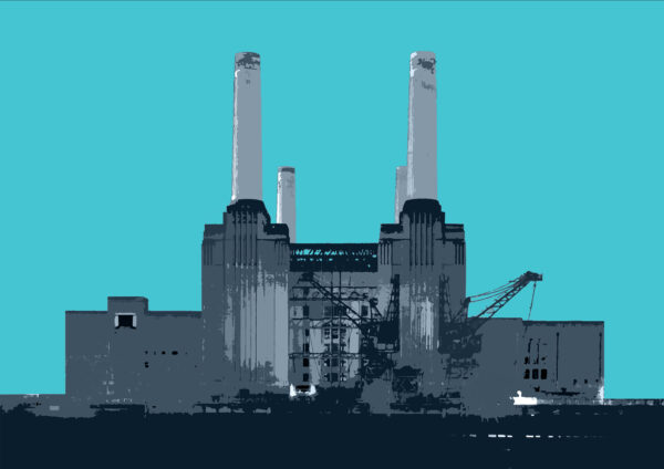 Battersea Power Station, Turquoise.