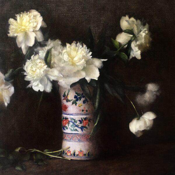 Peonies in Family Vase