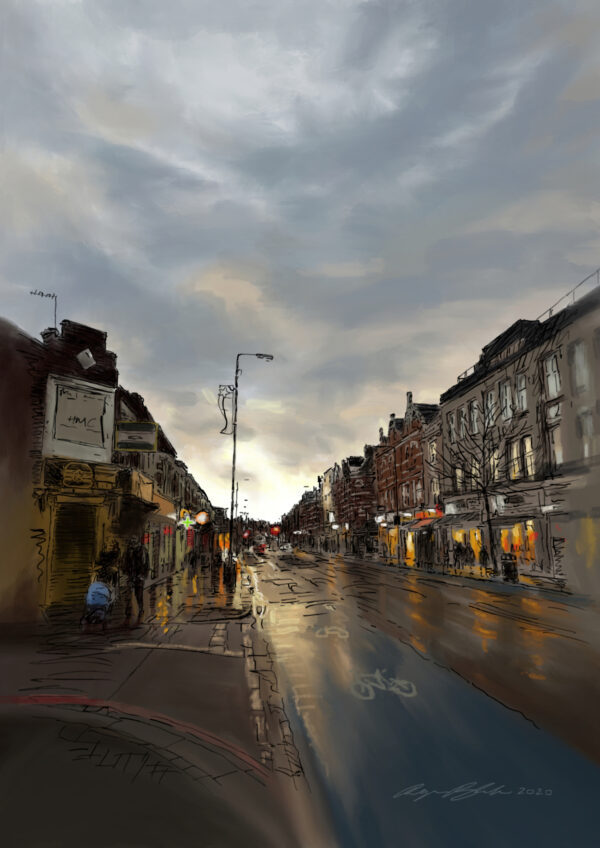 Sunset over Tooting High Street