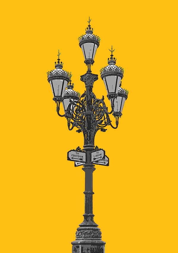 Tooting Broadway Lamps, Yellow.