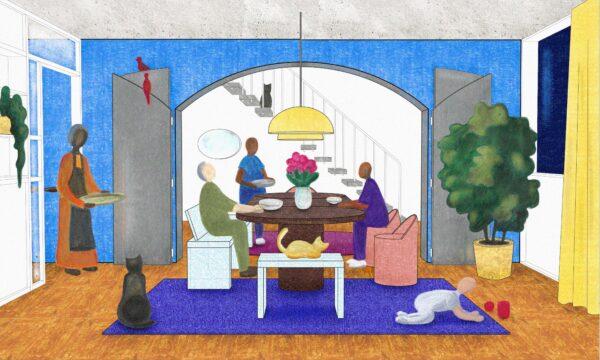 Maisonettes, Dinner around the Table