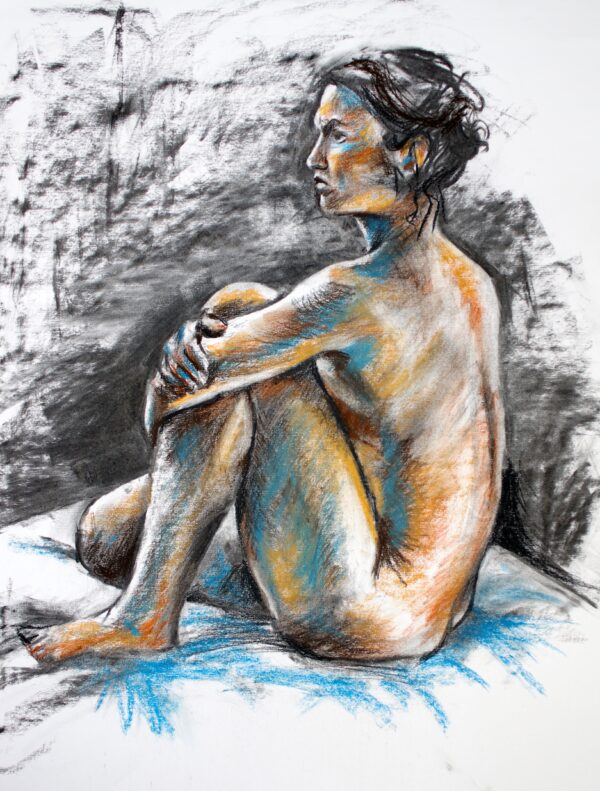 Life Drawing with Blue Shadows