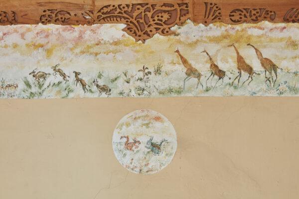 Safari scene in study at 575 Wandsworth Road. Credit Robin Forster